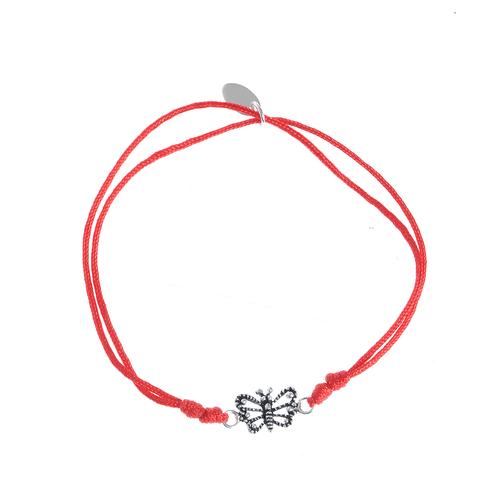 Bratara rosie martisor fluture argint poza 2021