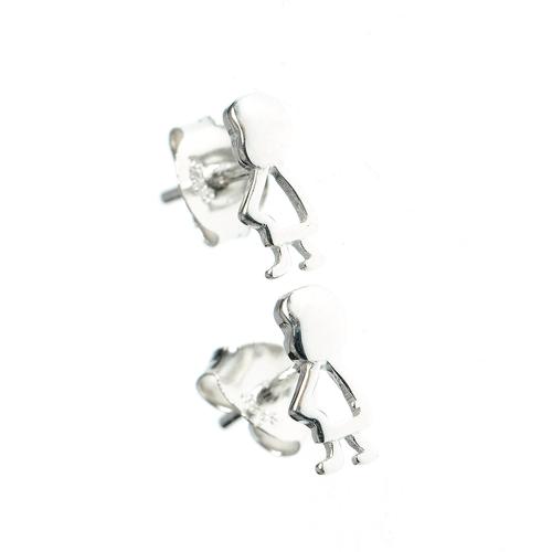 Cercei argint silueta copil