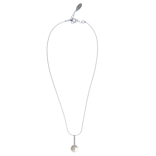 Colier argintiu cu perla poza 2021