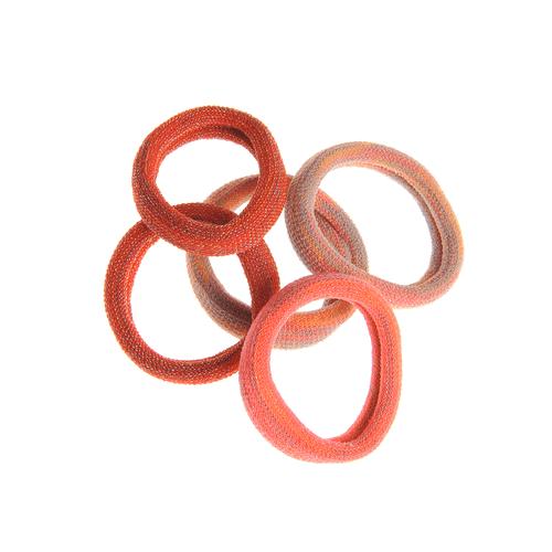 Set 5 elastice par tonuri portocalii poza 2021