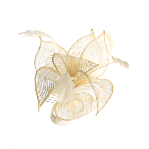 Pieptene elegant floare alba cu pene poza 2021