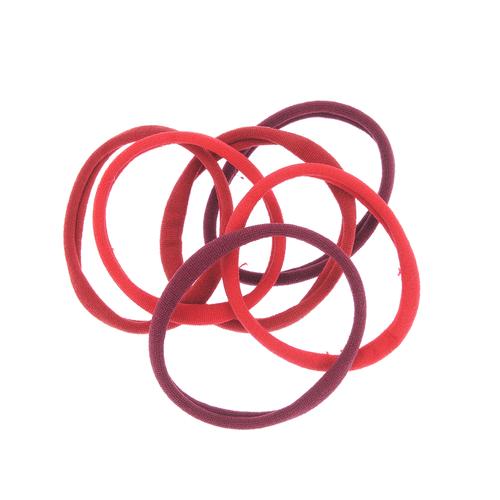 Set 6 elastice par nuante rosii poza 2021