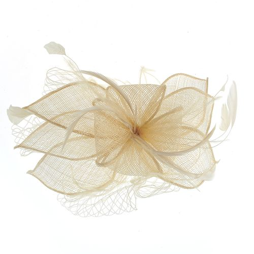 Agrafa- pieptan floare bej poza 2021
