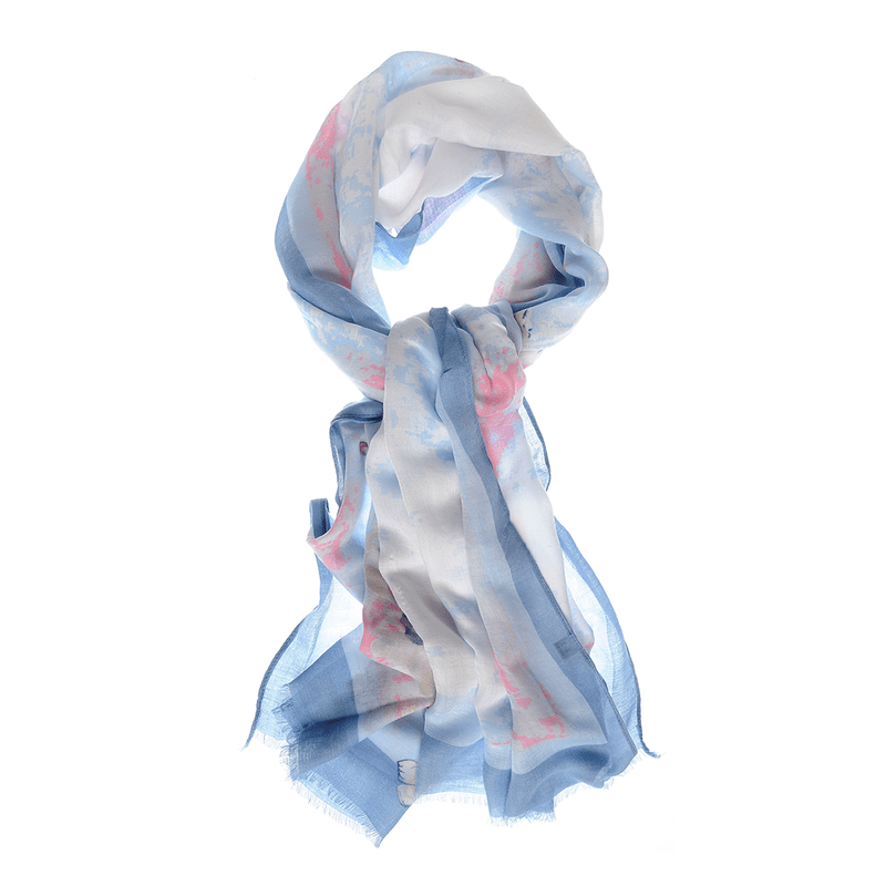Esarfa-cu-fluturi-margini-bleu