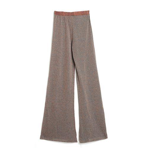 Pantaloni largi cu insertii stralucitoare poza 2021