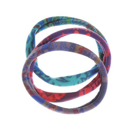 Set 3 elastice par print colorat poza 2021