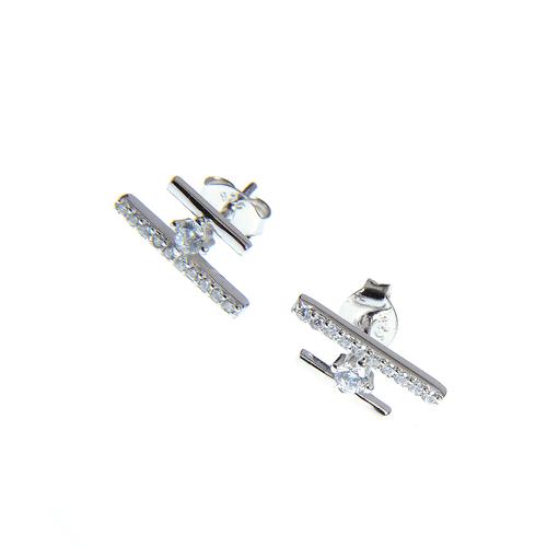 Cercei argint design modern poza 2021