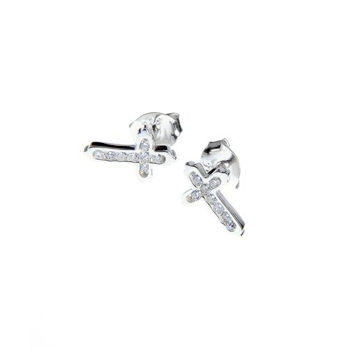 Cercei argint model cruciulite poza 2021