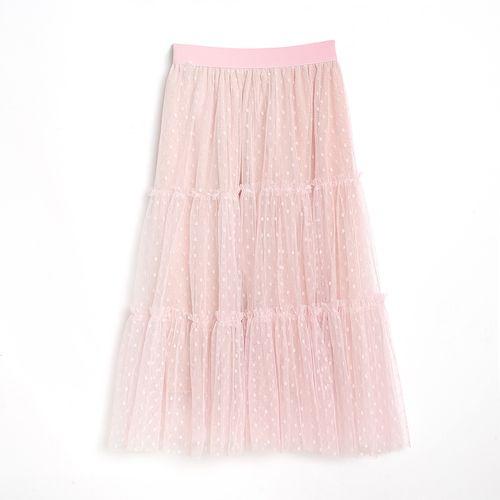 Fusta roz, cu buline - 176664 2 - Fusta roz, cu buline
