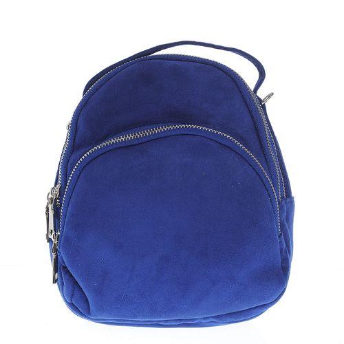Rucsac mini catifelat, albastru