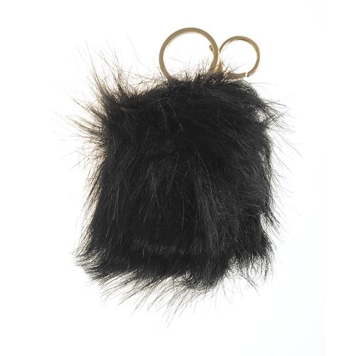 Bijuterie pentru geanta pufosenie neagra poza 2021