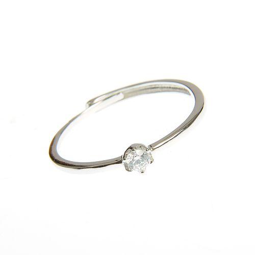 Inel argint subtire cu un mic cristal acrilic poza 2021