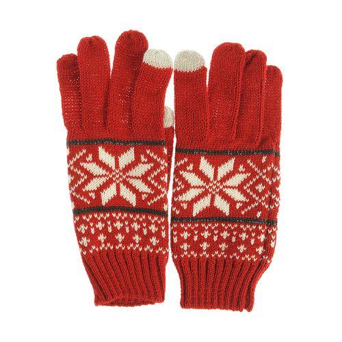 Manusi rosii, print traditional iarna - Manusi rosii, print traditional iarna poza 2021