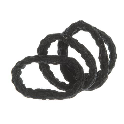 Set 4 elastice par negre buclate poza 2021