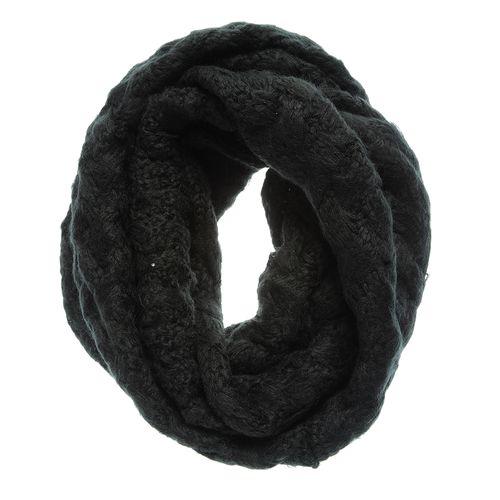 Fular negru circular, impletit