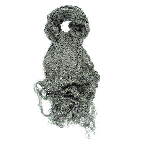 Fular tricotat gri lung poza 2021