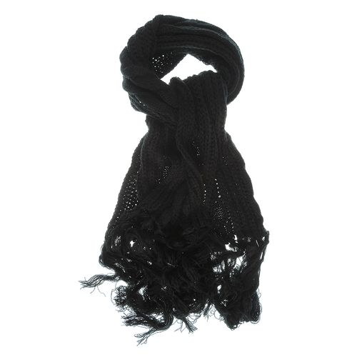 Fular tricotat negru lung poza 2021