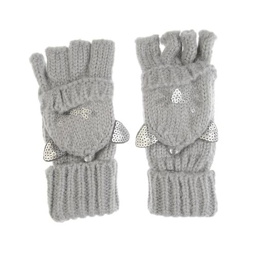 Manusi tricotate, cu degete decupate poza 2021
