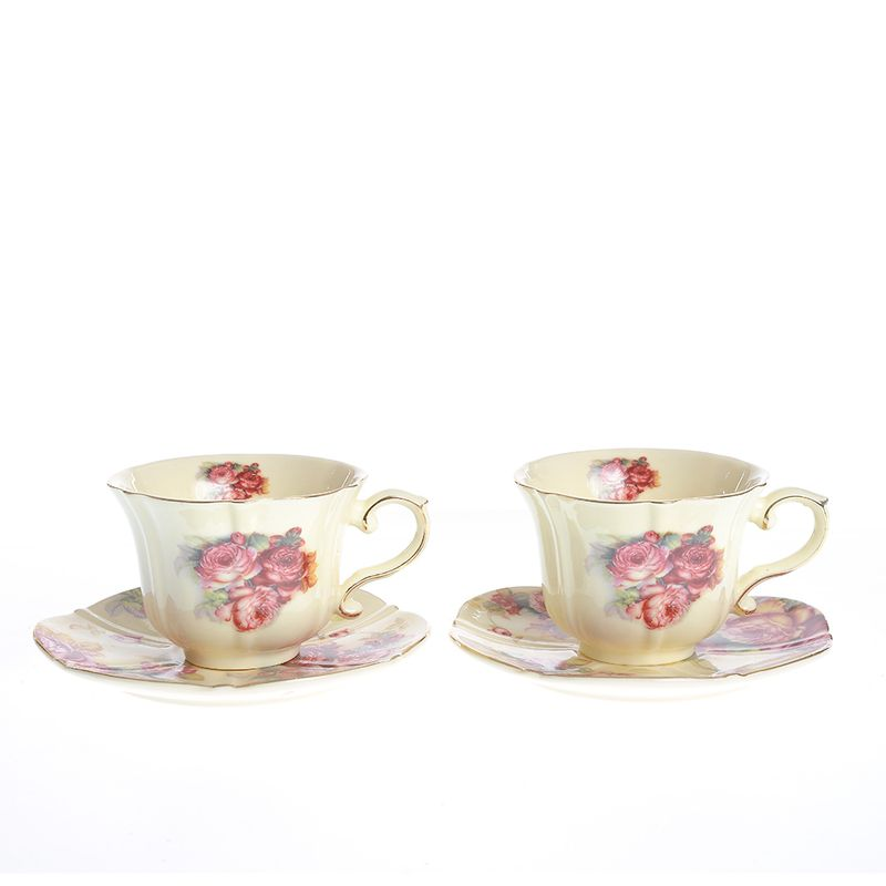 Set-cafea-model-floral-4-piese