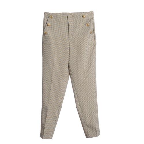 Pantaloni in carouri cu nasturi aurii poza 2021