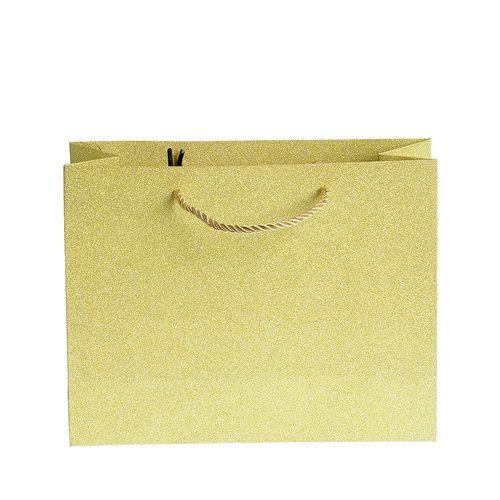 Punga de cadou auriu cu sclipici poza 2021
