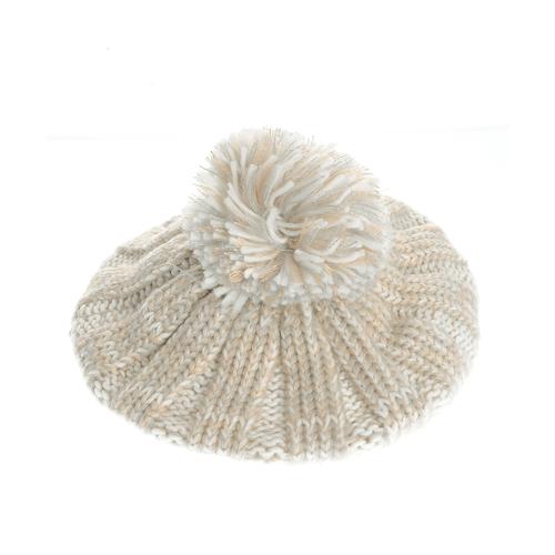 Basca tricotata cu fir argintiu poza 2021