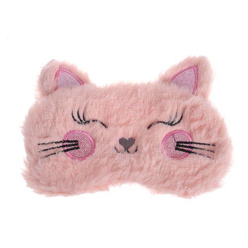 Masca roz, de dormit, pisica