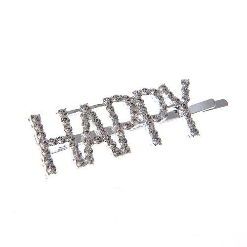 Agrafa argintie HAPPY