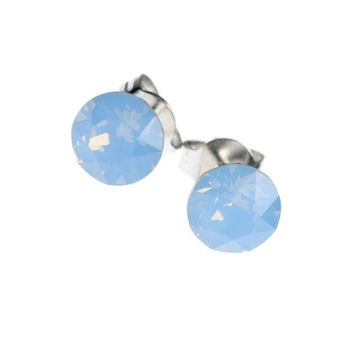 Cercei delicati cu cristal swarovski albastru poza 2021
