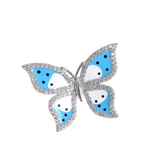 Brosa argint fluture bleu poza 2021