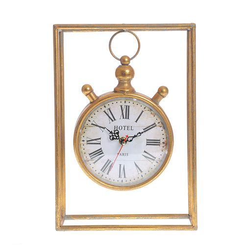 Ceas auriu cu rama metalica poza 2021