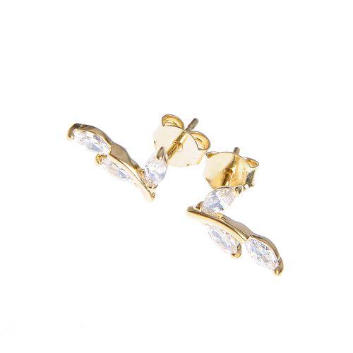 Cercei placati aur, model elegant
