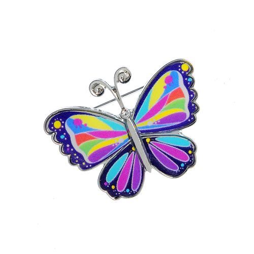 Brosa martisor fluture mic multicolor poza 2021