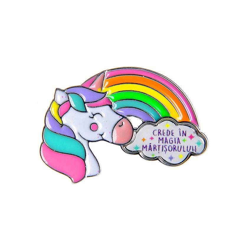 Brosa-martisor-unicorn-curcubeu