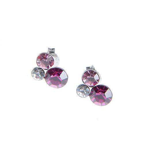 Cercei roz argint
