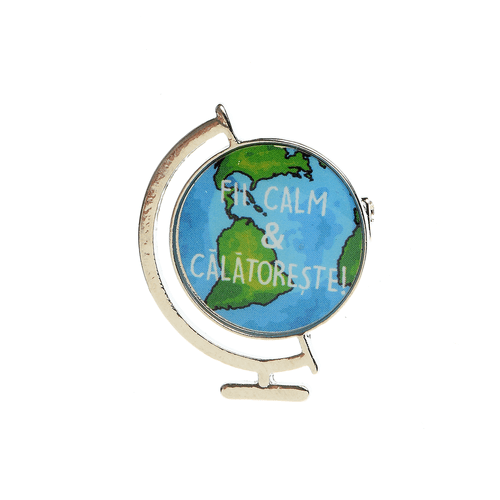 Brosa martisor glob cu mesaj poza 2021