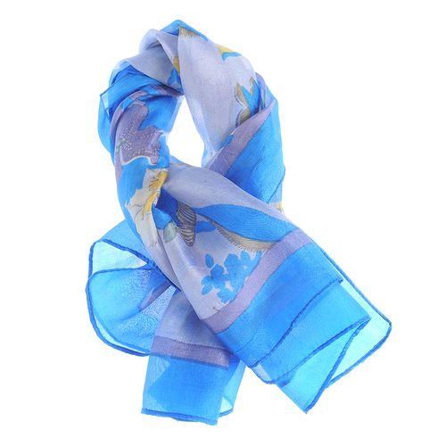 Esarfa matase patrata, nuante albastre poza 2021
