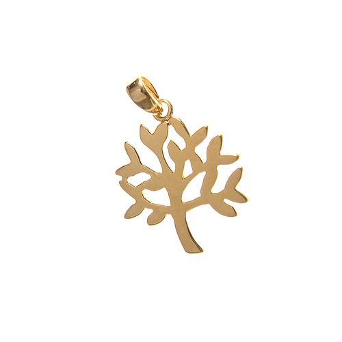 Pandantiv placat cu aur copac inflorit poza 2021