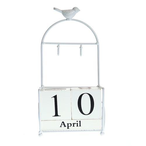 Calendar perpetuu cuburi albe poza 2021