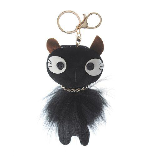 Bijuterie neagra pentru geanta pisica