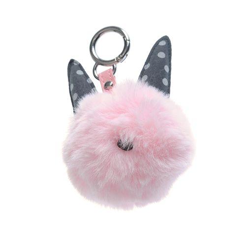Bijuterie pufoasa roz pentru geanta poza 2021