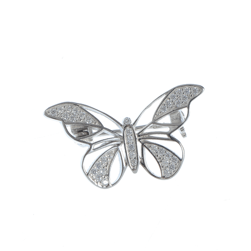 Brosa fluture argint poza 2021