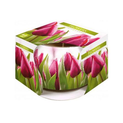 Lumanare parf Flori in pahar imprimat poza 2021