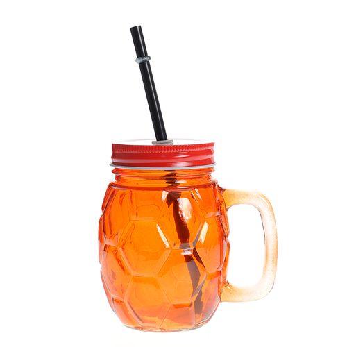 Pahar limonada cu capac portocaliu poza 2021