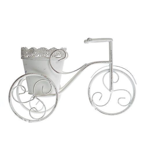 Suport alb flori tricicleta poza 2021