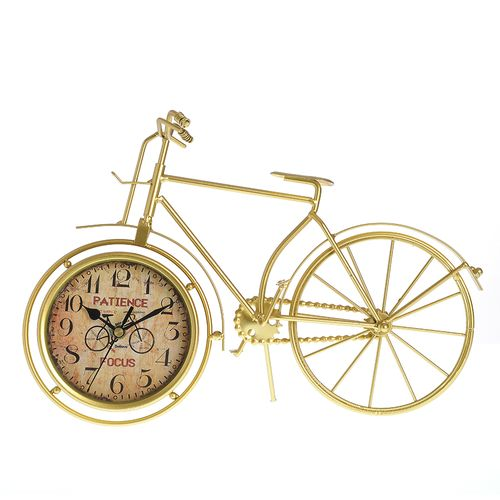 Ceas decorativ bicicleta aurie poza 2021