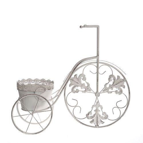 Suport alb ghiveci tricicleta poza 2021