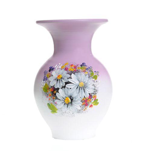 Vaza ceramica flori multicolore poza 2021