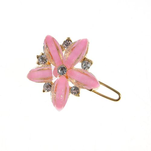Agrafa cu floare roz