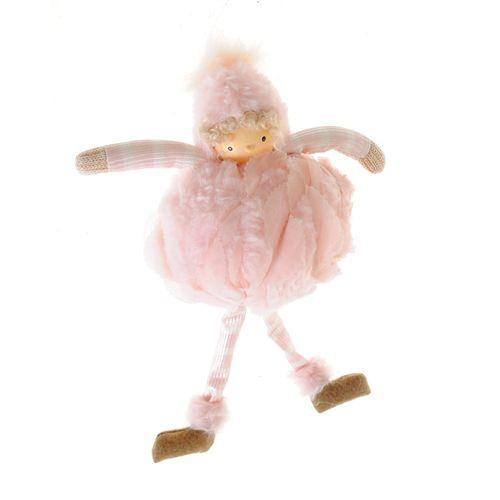 Decoratiune fetita roz Craciun poza 2021